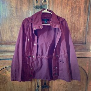 New Condition! Burgundy Trench Coat